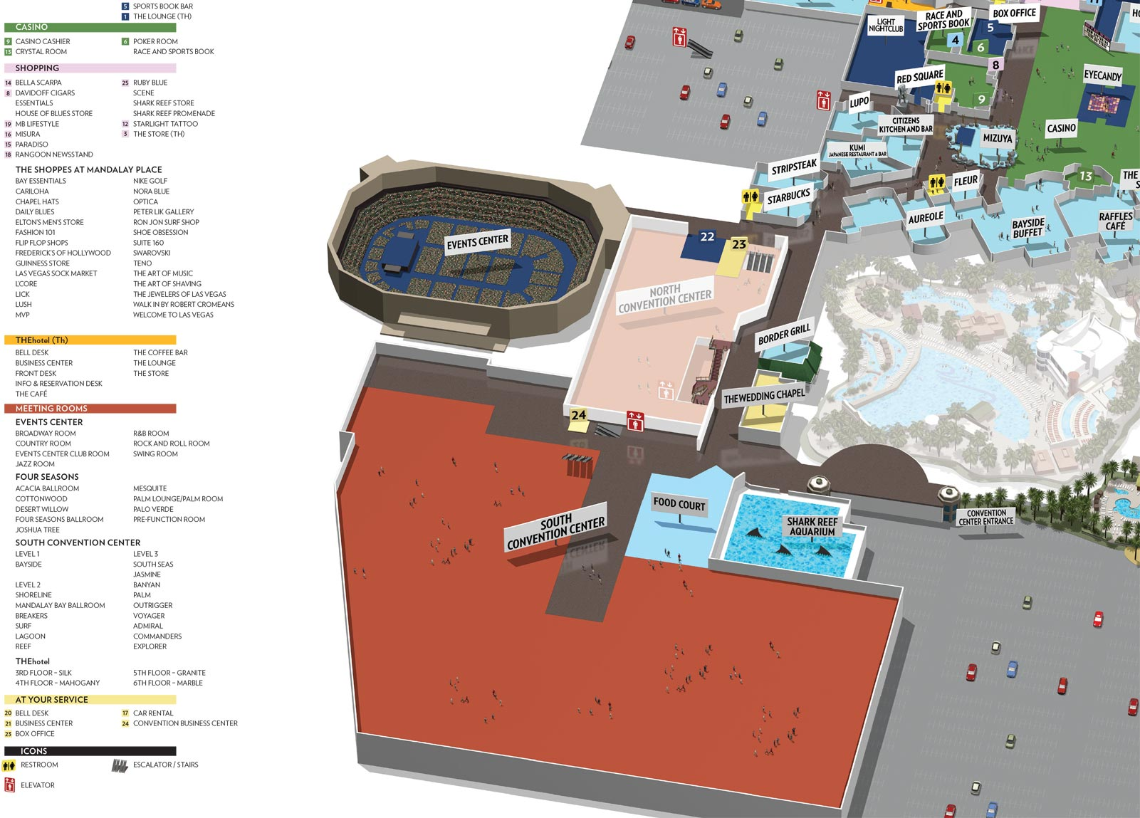 Mandalay Bay Convention Center Map