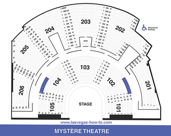 Mystere Las Vegas Seating Chart