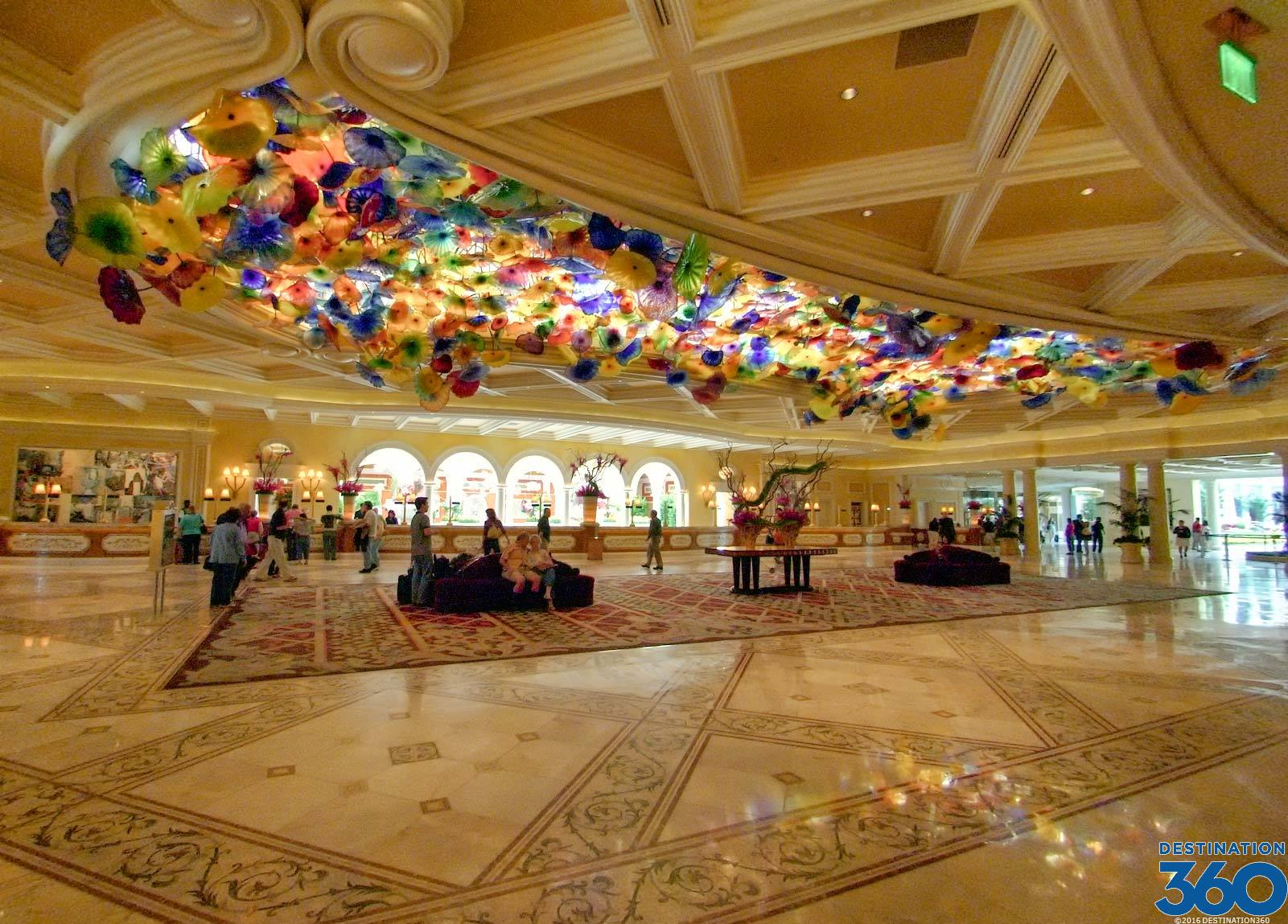 Bellagio Lobby Bellagio Glass Ceiling