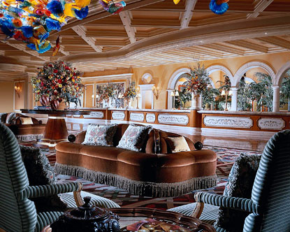 Bellagio entrance lobby | Photo |Las Vegas Bellagio Hotel Lobby