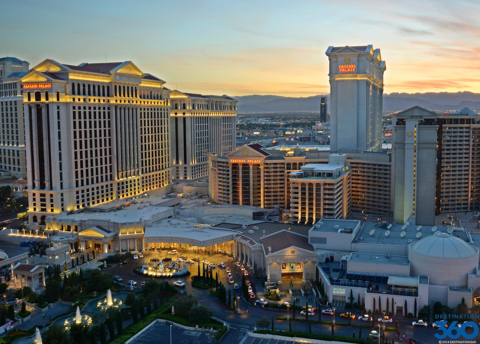 list of las vegas hotels on the strip