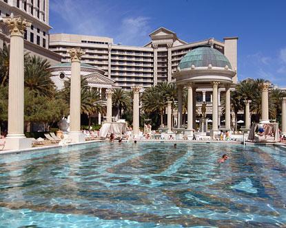 Caesars palace pools for Caesars swimming pool