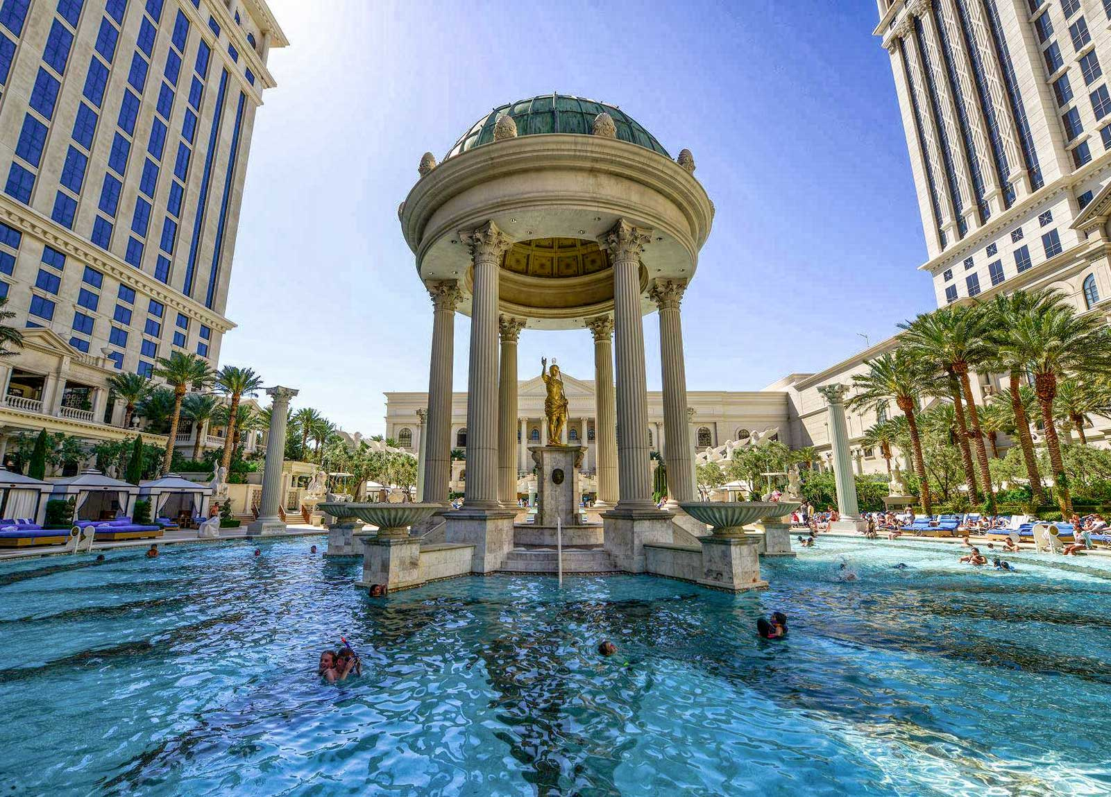 Caesars Palace Pools Virtual Tour