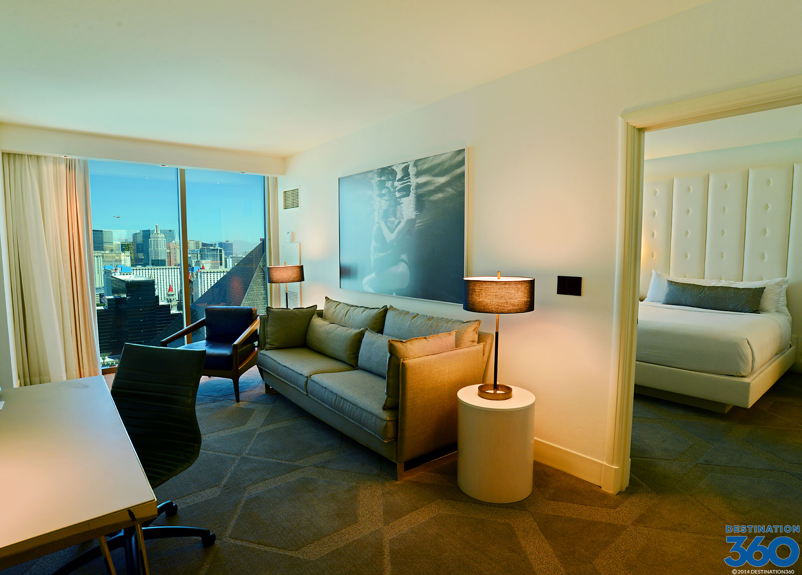 Cosmo 2 Bedroom City Suite delano rooms - las vegas all-suite hotel - mandalay bay suites