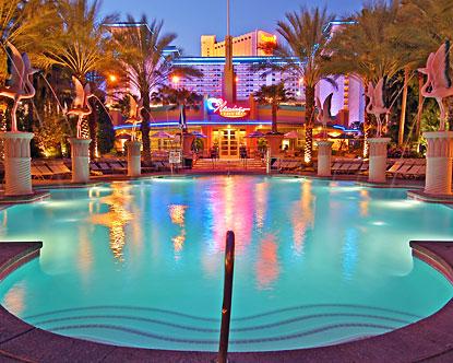 Go pool at flamingo las vegas flamingo pool party for Best swimming pools in las vegas hotels