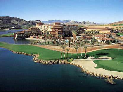 Loews Lake Las Vegas on golf on a volcano in desert or