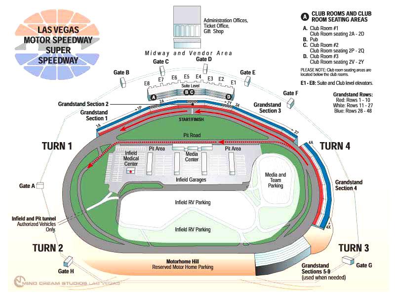 Las vegas motor speedway map best nascar seats for Las vegas motor speedway rental