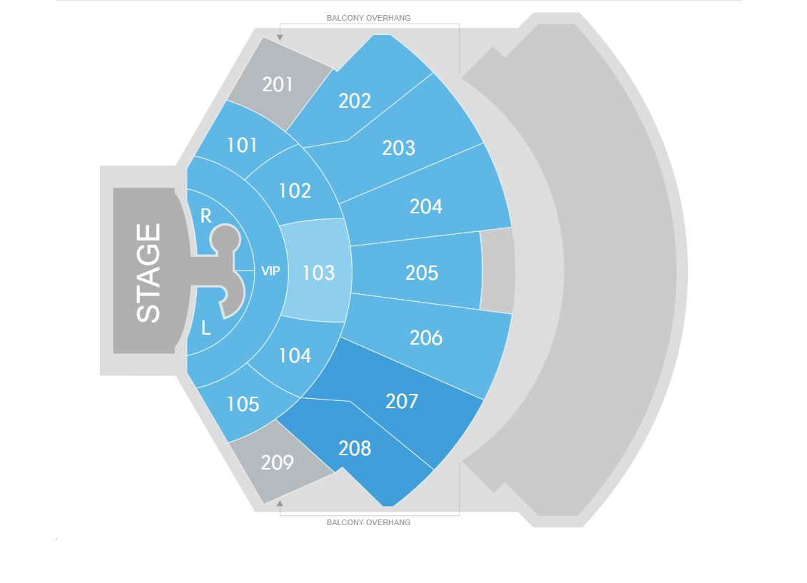 Zappos Theater Seating Map