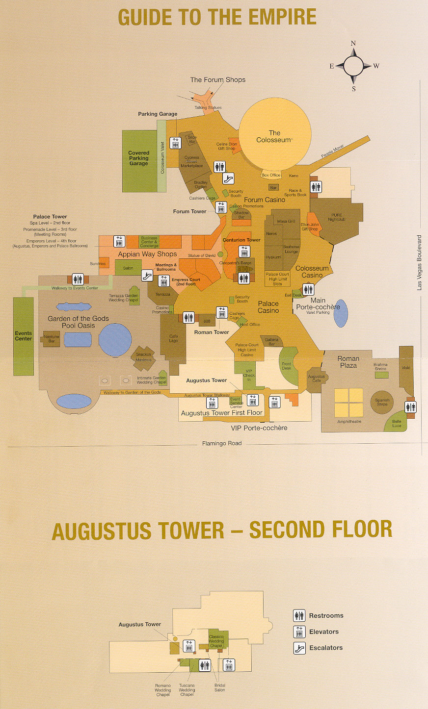 Caesars Palace Hotel Map Caesars Palace Map