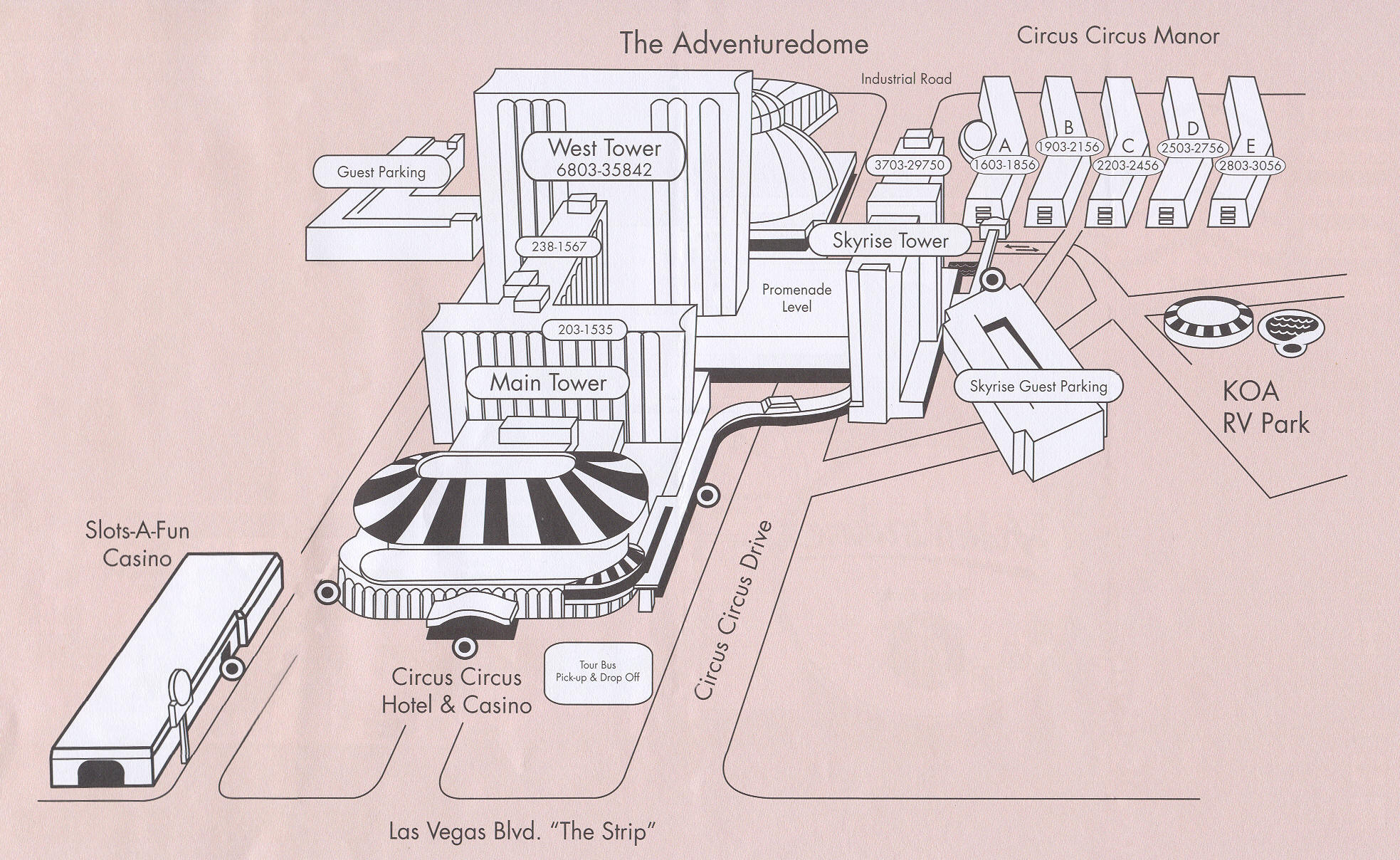 Circus Circus Hotel Map Circus Circus Map - Map of las vegas venetian