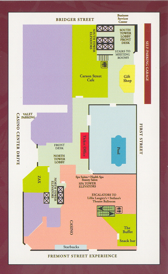 Golden Nugget Hotel Map Map Of The Golden Nugget Las Vegas