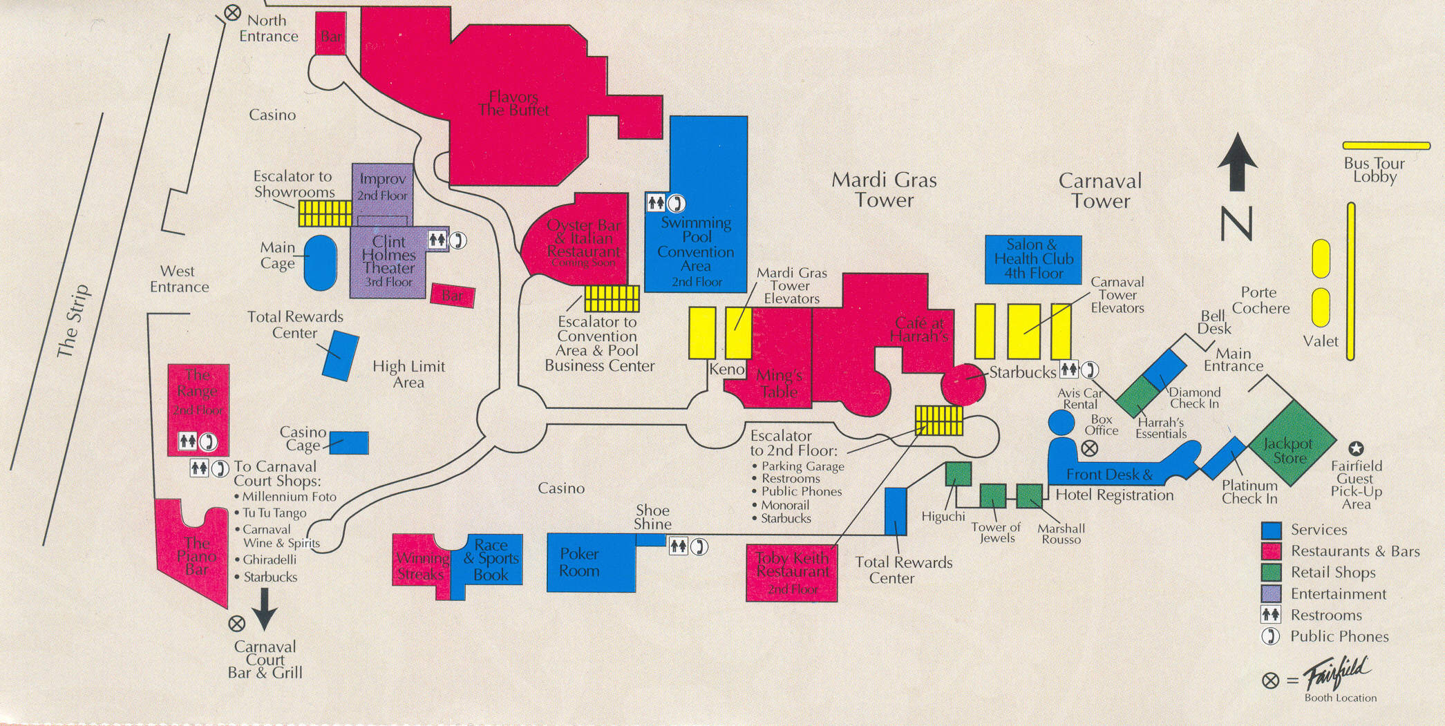 Harrahs Map