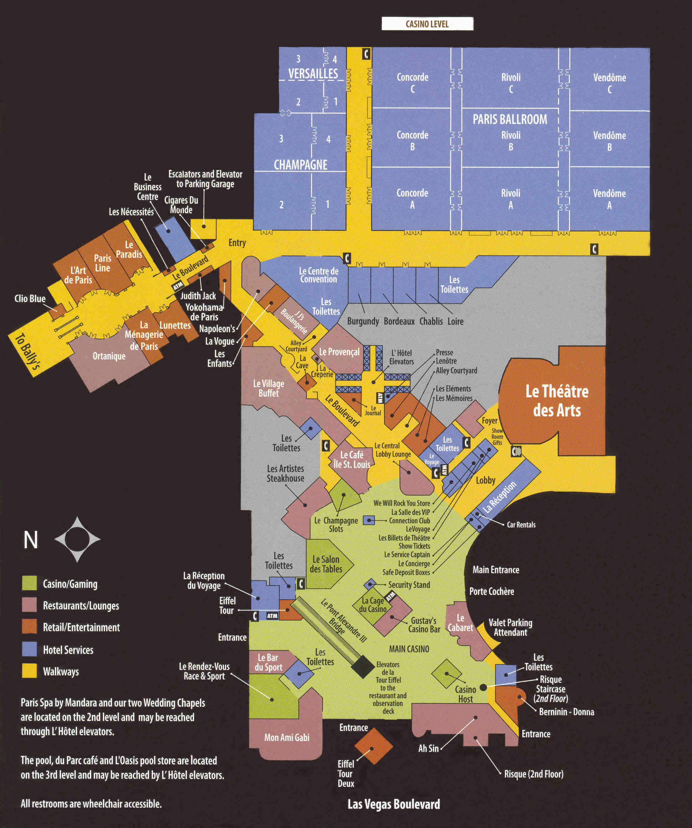 Paris Hotel Map Las Vegas Paris Las Vegas Map
