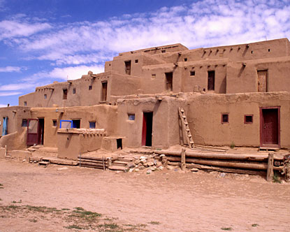 Pueblo Indian adobe houses