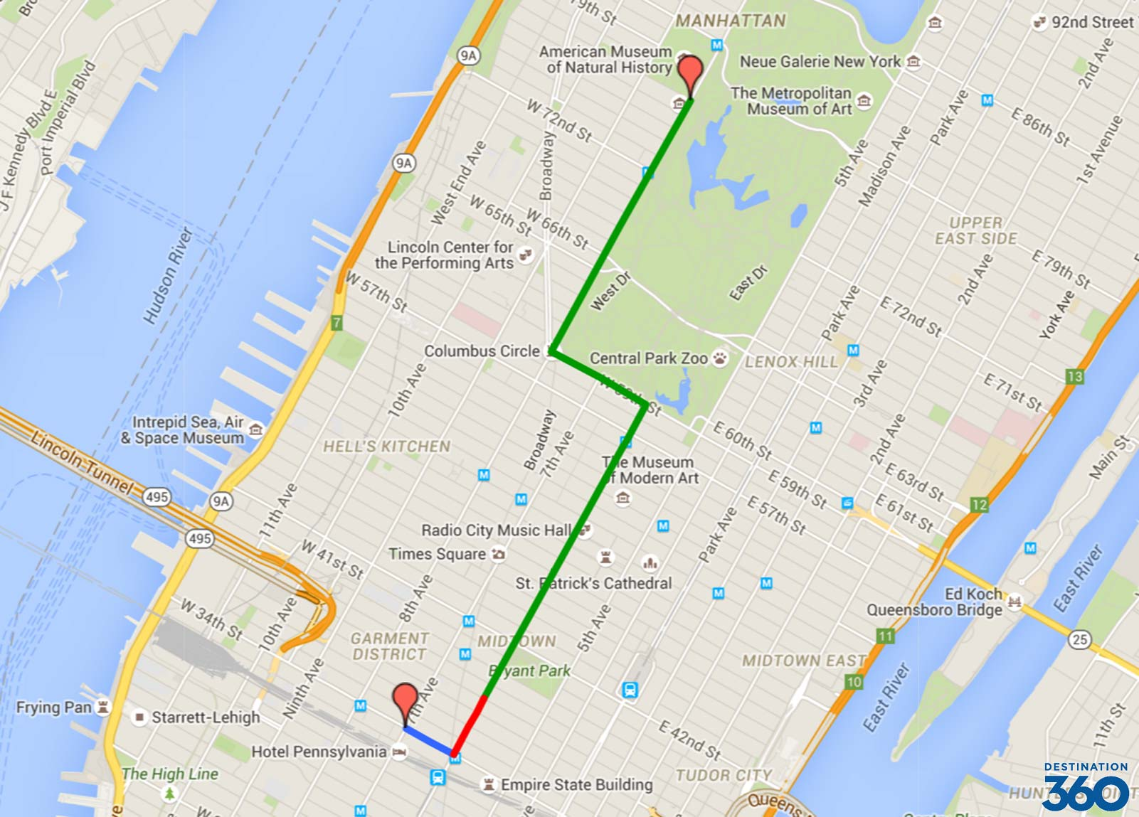 Macy's Parade Route Map