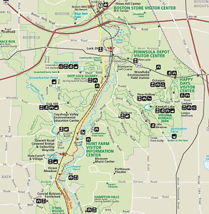 Cuyahoga National Park Map Cuyahoga Valley National Park Map   Map of the Cuyahoga Valley Cuyahoga National Park Map