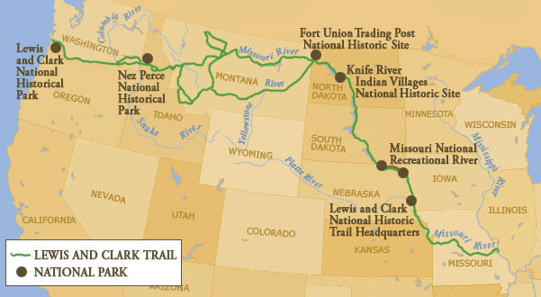 Map Of Lewis Clark Trail