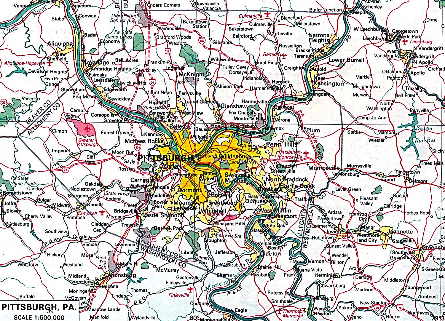 Pittsburgh Map Pittsburgh City Map