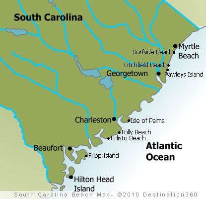 Map Of South Carolina Beaches