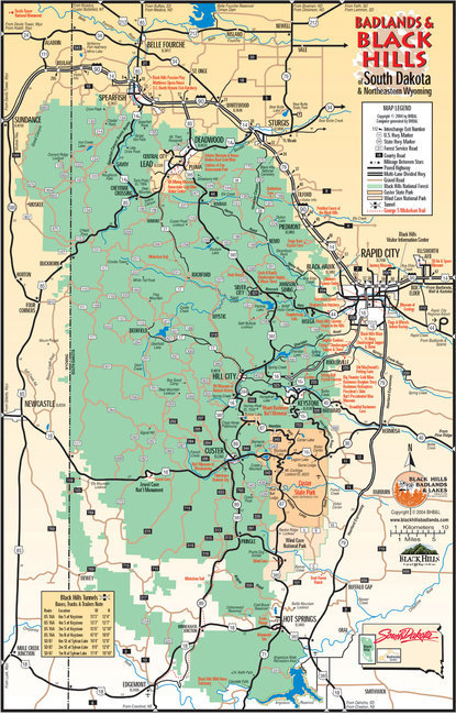 Map of the Black Hills