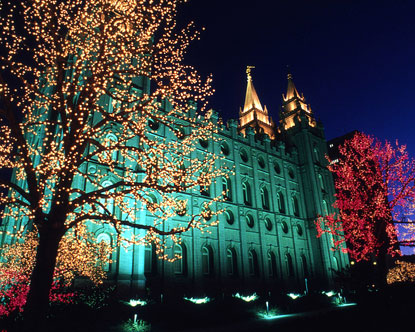 Temple Square Christmas Lights Temple Square Lighting