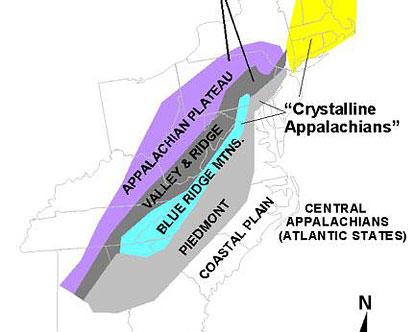 Blue Ridge Mountains Map