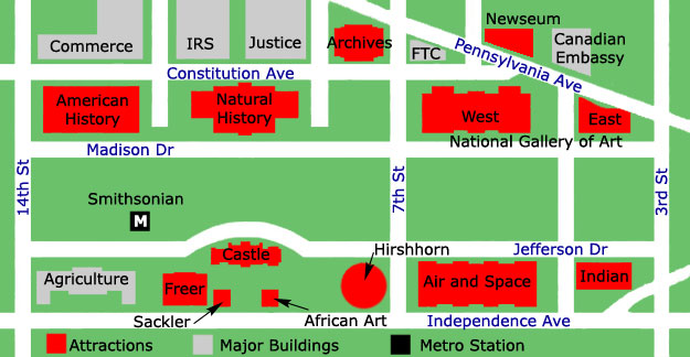Smithsonian Institution Map