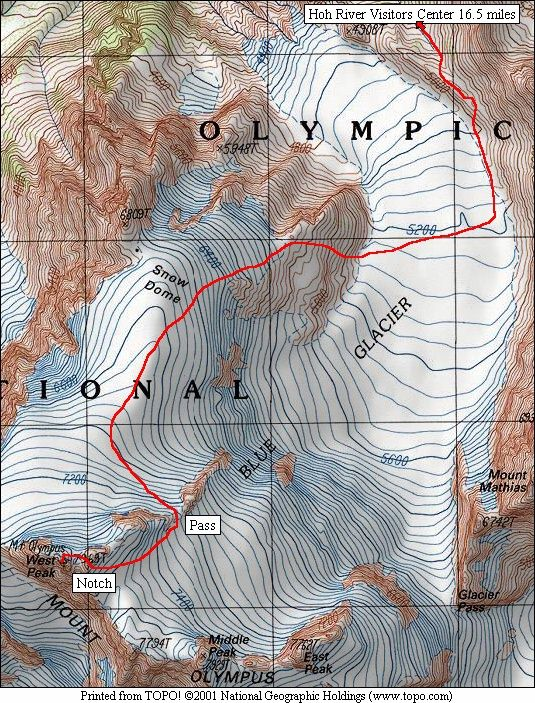 Mount Olympus Climbing Route
