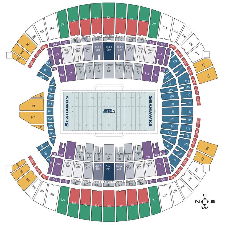 Centurylink field seating qwest field seating seahawks stadium