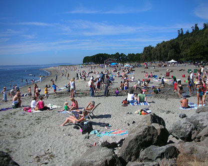 Golden Gardens Beaches In Seattle