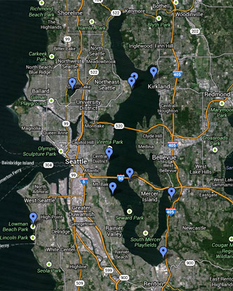 Seattle Windsurfing Map