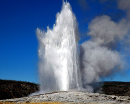 Old Faithful Geyser. No trip to Yellowstone National Park
