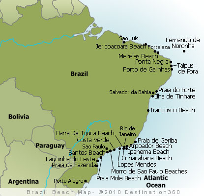 Brazil Beaches Map