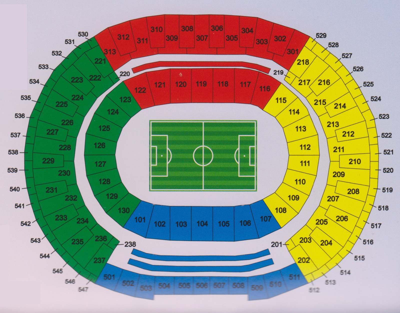 Macarana Stadium Seating Chart