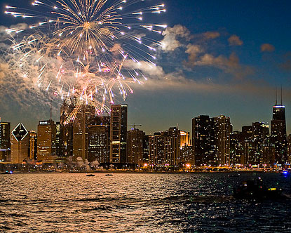 Chicago 4th of July fireworks 2016 Images