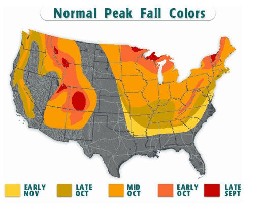 fall foliage map 2012 new york: Fall Foliage Map