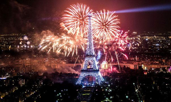 Paris New Years Fireworks