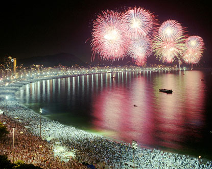 New Years Party in Rio de Janeiro